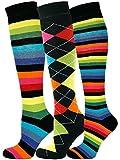 MySocks 3 Paar Kniestrumpf vielseitiges Design Socken 04