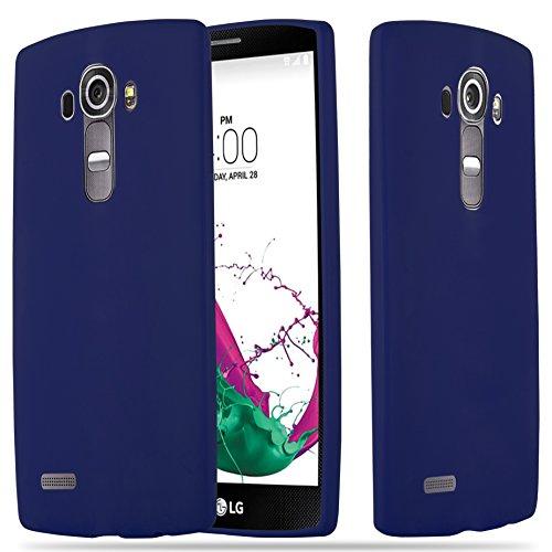 Cadorabo Hülle für LG G4 - Hülle in Candy DUNKEL BLAU - Handyhülle aus TPU Silikon im Candy Design - Silikonhülle Schutzhülle Ultra Slim Soft Back Cover Case Bumper