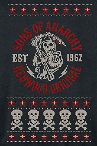 Sons Of Anarchy Redwood Original Christmas Sweater Sweat-Shirt schwarz Schwarz