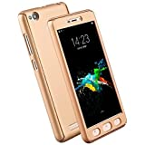 Redmi IPaky 360 Full Body Protection PC Front& Back Cover Case For Xiaomi XiaoMi RedMi 4 [May 2017 Release] (GOLD)