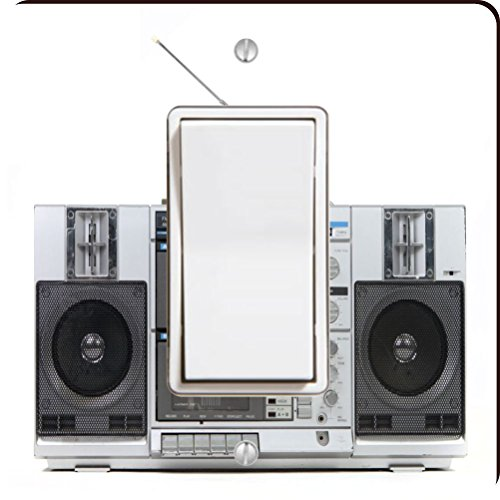 Rikki Knight Retro Boom Box Stereo Single Wippe Licht Teller Stereo-wall Plate