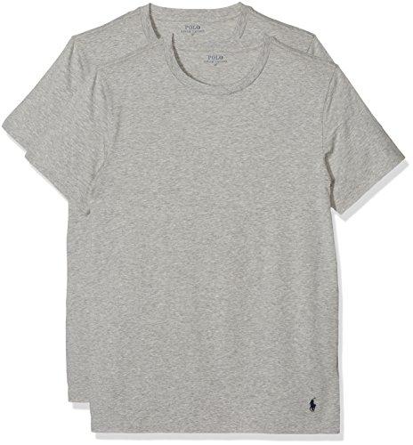 Polo Ralph Lauren Herren Classic T-Shirt, Grau (2Pk Htr 003), X-Large (erPack 2