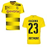 puma BVB Borussia Dortmund Trikot Home 2017 / 2018 mit Spieler Name, Größe:S, BVB SPIELER:KAGAWA