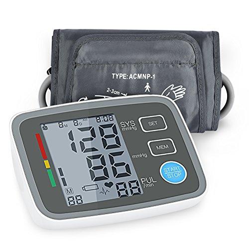 COULAX Digitale Oberarm Blutdruckmessgerät mit LCD-Display Leicht und Tragbar Blutdruck Messgerät