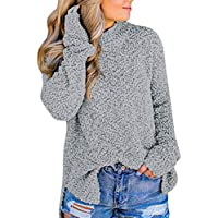 Hanomes Damen pullover, Frauen Casual Stehkragen Side Split Full Sleeve Pullover Outwears Top Bluse preisvergleich bei billige-tabletten.eu