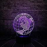 Lampe de Nuit,Tellurion Globe World America Map 3D Led Lamp 7 Colores Change Mood Bulb Kid Desk Decorativo Sleep Lamp Gadget Gift Toy Remote Control @ Remote Control