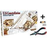 Artesania Latina 22850. Maqueta de barco en madera. Fragata U.S. Constellation. Escala 1/85 + Multiherramienta 4 en 1
