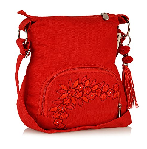 Sling Bag Pick Pocket Women \'s Sling Bag (Red,Slredemb39)