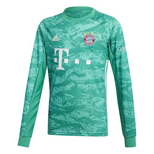 Gestickt Interlock (adidas Performance Kinder FC Bayern München 19/20 Heim Fußballtrikot grün 128)
