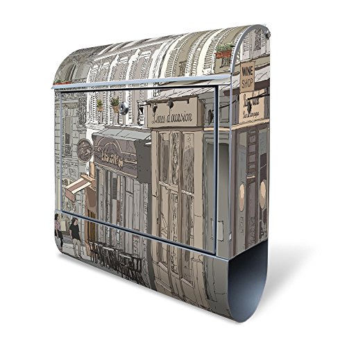 design-mailbox-with-newspaper-case-designer-motive-postbox-for-a4-sendings-silver-letters-large-colo
