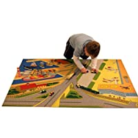 Be-Active Giant Motorway, Airport & Dock Road Playmat (150 x 100cm)