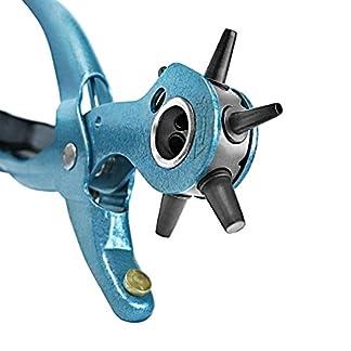 S&R Alicate Sacabocados para Cinturones y Cuero. MADE IN GERMANY. Punzones de 2 /2,5 /3 /3,5 /4 /4,5 mm