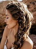 Simsly Mariage Cheveux vignes de mariage Fleur Bandeaux Accessoires pour brides et Demoiselles d'honneur (Argent) Fs-092