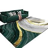 Meng Qi Dormitorio De Estilo Europeo Creativo Gran Alfombra Salón Sofá Mesa Rectangular Alfombra Escuela De Hostelería De Noche Alfombrilla Antideslizante (Color : Green, Size : 120CM*160CM)