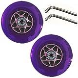 "CrazyGadget® Scooter Wheels Stunt Core Replacement Colour Rollers Skate 4"" 100mm (Set of 2) (Purple) - CrazyGadget - amazon.co.uk"