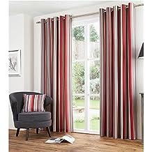 Double rideaux rouge - Rideau de cuisine rouge et gris ...