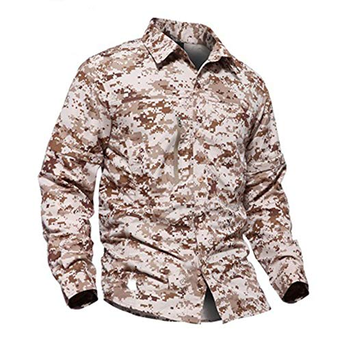 Acu Digital Uniform Shirt (Eickawa Mens Tactical Shirt Training Militär Langarm T-Shirt Armee Kampfjagd Uniform)