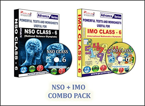Sure shot question bank - 48 Tests (IMO) & 14 Tests (NSO) - Class 6 (Set of 2 CDs) + 1500+ previous year questions to practice.  available at amazon for Rs.990