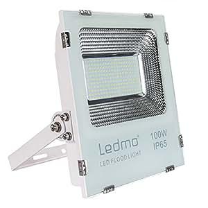 100W Projecteur Led IP65 Spot Led Extérieur 6000K 9000lm Projecteur LED Extérieur étanche Lumière du jour blanc 500W Equivalent halogène, lumières de sécurité, Lumières d'inondation