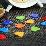 Bütic GmbH Plexiglas® Streudeko - Herz - Wurfdeko, Tischdeko 30mm glänzend - Auswahl, Anzahl:10 Stück, Farbe:Bunt