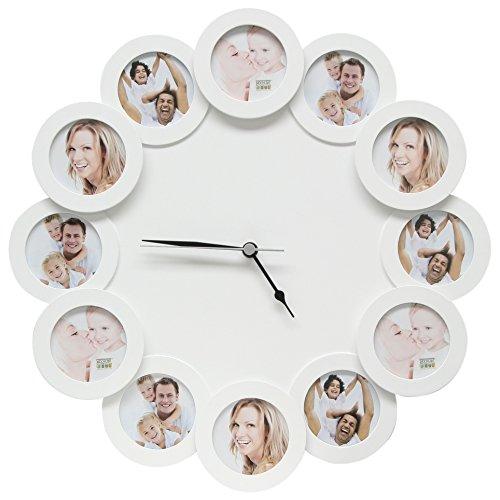 Uhr Wei 12X7X7 Holz 42Cm Durchmesser S66Sf1
