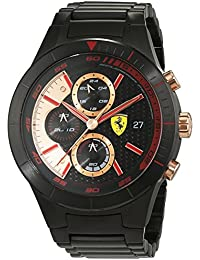 Scuderia Ferrari Orologi Herren-Armbanduhr Red Rev Evo Chrono Analog Quarz Edelstahl beschichtet 0830305