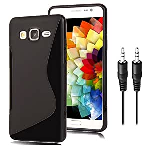 S Case Grip Back Cover For Samsung Galaxy On5 Combo Offer Free Audio AUX Cable