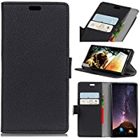 Forhouse Wiko View Wallet Leather Case with Protective Durable Shell Shell Folio flip Cell Phone Cover Bag with Card Slots,Cash Pocket,Black