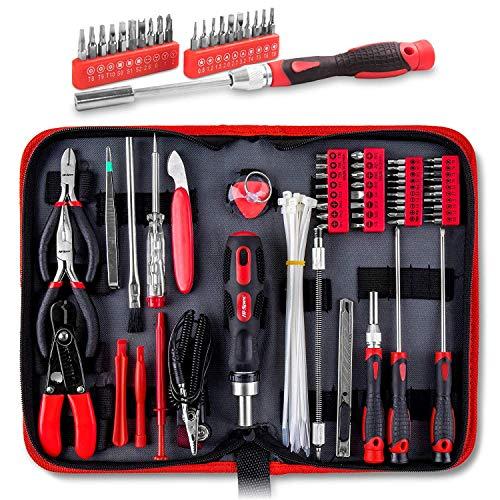 Kit de herramientas Apollo - 73piezas para reparación y mantenimiento para ordenadores, Tablets, teléfono móvil y piezas electrónicas