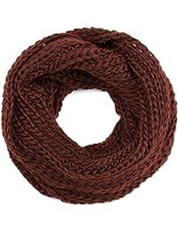 style3 Loop Winterschal Schal breit und lang, grob gestrickt in 11 verschiedenen winterlichen Farben