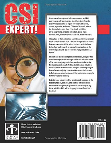 CSI Expert!: Forensic Science for Kids: Grades 5-8