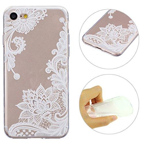 iPhone 7 Custodia, Moon mood Copertura / coperture / insiemi di telefono / shell protettivi apparecchi Telefonici mobili chiari e trasparenti Custodia TPU silicone Crystal per Apple iPhone 7 (4.7 Zoll), Case Cover Protettivo Disegno Speciale