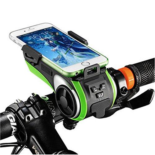 GOCHANGE Multifunktions wasserdicht Fahrradlicht - Kabellos Lautsprecher - Powerbank - Elektronische Fahrradglocken USB-Ladegerät mit Fahrradzubehör