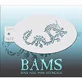 Bad Ass BAM1412 Schablone, Motiv: Chinesischer Drache