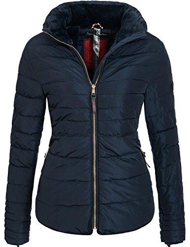 Marikoo Damen Jacke Winterjacke Steppjacke Amber 9 Farben XS-XXL Blau