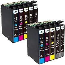 LxTek Compatible Cartuchos de tinta Epson 16 XL T1631 T1632 T1633 T1634 ( 4 Negro, 2 Cian, 2 Magenta, 2 Amarillo ) para Epson Workforce WF-2010W WF-2510WF WF-2520NF WF-2530WF WF-2540W WF-2630WF WF-2650DWF WF-2660DWF WF-2750DWF WF-2760DWF Impresora