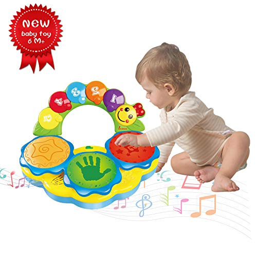 Baby Toys 18+ Months Portable Musical Toys Drums Piano Musical Instrument Early Education Toy Music/Light/Funny sound Baby Toys For 1 2 3 4 Year Old Boys Girls Toddlers Kids Toys-Two colors random