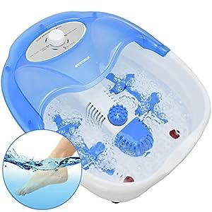 Syntrox Germany Fußsprudelbad Fussmassage Massagegerät FSB-450W Bubble mit Pediküre-Aufsätzen, Infrarotlicht und Wasserheizung