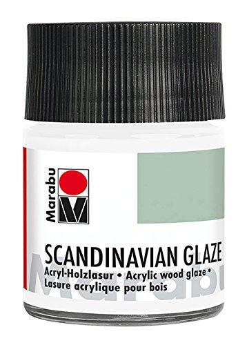 Marabu Scandinavian Glaze 50ml Blanco Tarro de Cristal - Pintura acrílica (Blanco, Madera, 50 ml, Tarro de Cristal)