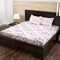 Story at Home Flat Double Bedsheet, White, 225cm X 250cm, Mj1431