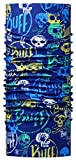 Buff -  Fasce  - ragazzo BUFF Multifunktionstuch mit erhöhtem UV-Schutz für Kinder Funny Skulls, Schädel bunt, Polyester, Gr.50-55 Taglia unica