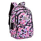 Mysuesse Fashion Damen Canvas Groß Schulrucksack Schultertasche Daypacks Backpack für Mädchen Jungen Jugendlich