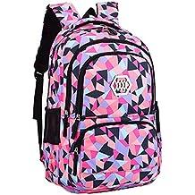 73bd26669ca44 Mysuesse Fashion Damen Canvas Groß Schulrucksack Schultertasche Daypacks  Backpack für Mädchen Jungen Jugendlich