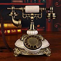LSXLSD Antique Telephone Landline Telephone Vintage Home Turntable Retro Telephone (Color : White)