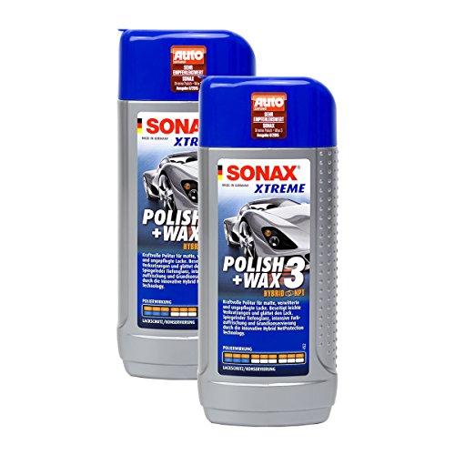 Preisvergleich Produktbild 2x SONAX 02021000 XTREME Polish+Wax 3 Hybrid NPT Politur Wachs 250ml