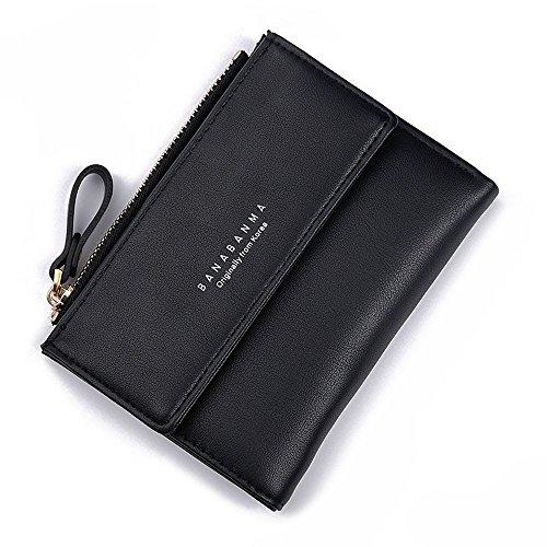 ESAILQ Mode Femmes Porte-monnaie en cuir d'embrayage sac à main Lady court sac à main