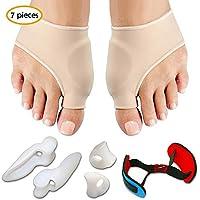 Bunion Corrector & Bunion Relief Protector Sleeves Kit, Hamkaw Bunion Pads Cushion Bunion Protector For Men Women Kids, Treat Pain In Hallux Valgus, Hammer Toe, Big Toe Joint Set Of 7