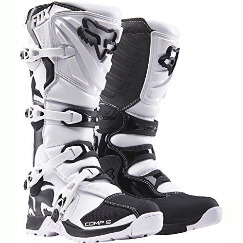 Fox Botas de Motocross Comp 5,Blanco, 46,5