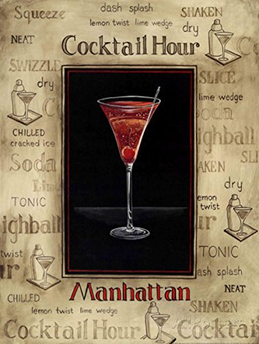 Manhattan Pub (Manhattan Cocktail Hour Metall Dose Wand Schild Geschenk Wand Küche)