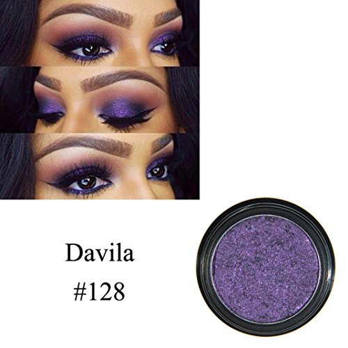 r Schimmernde Farben Lidschatten Metallic Eye Cosmetic (D) (Silber Metallisch Creme Make Up)
